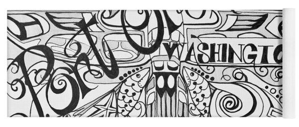 Port Orchard Washington Zentangle Collage 2 Yoga Mat