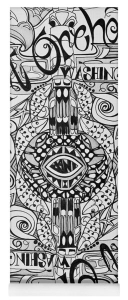 Port Orchard Washington Zentangle Collage Yoga Mat
