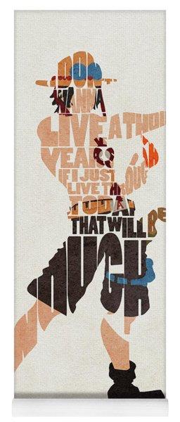 Portgas D. Ace Typography Art Yoga Mat
