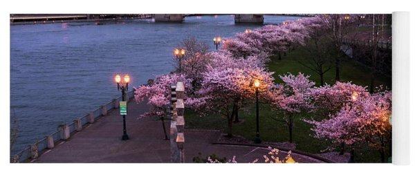 Portland Cherry Blossoms Yoga Mat