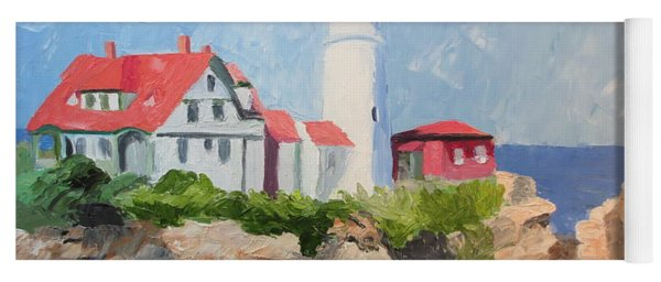 Portland Headlight By The Sea Yoga Mat