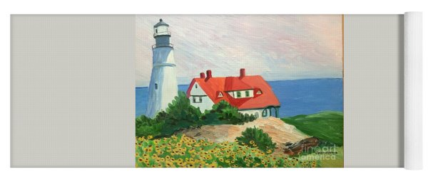 Portland Headlight With Brown Eyed Susans Yoga Mat