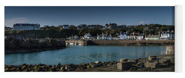 Portpatrick Harbour And Lighthouse Yoga Mat