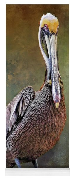 Portrait - Brown Pelican Yoga Mat