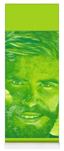 Portrait In Green Yoga Mat