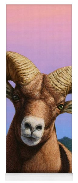 Portrait Of A Bighorn Yoga Mat