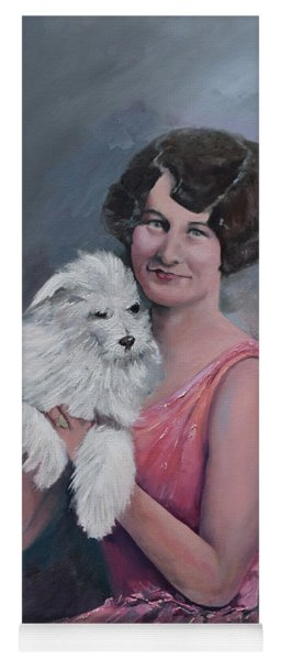 Yoga Mat featuring the painting Maggie And Caruso -portrait Of A Flapper Girl by Jan Dappen