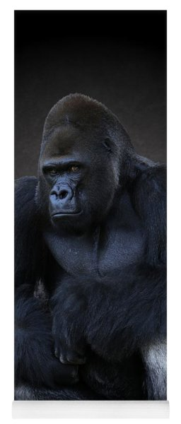 Portrait Of A Male Gorilla Yoga Mat