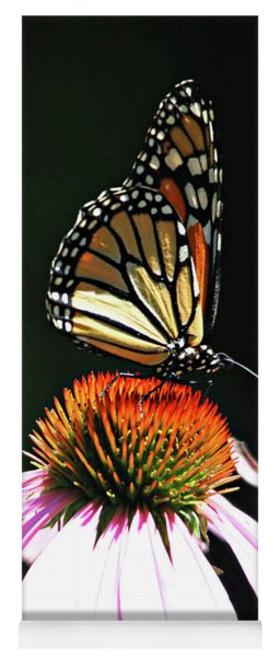 Yoga Mat featuring the photograph Portrait Of A Monarch by Trina Ansel