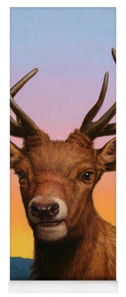Portrait Of A Red Deer Yoga Mat