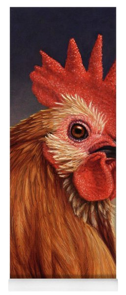 Portrait Of A Rooster Yoga Mat