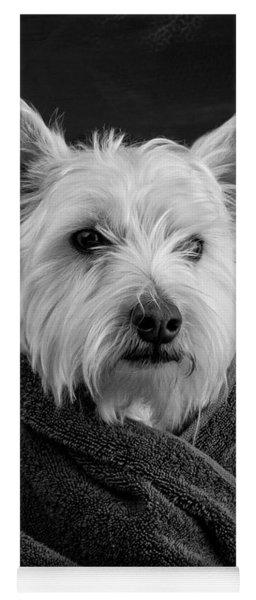 Portrait Of A Westie Dog Yoga Mat