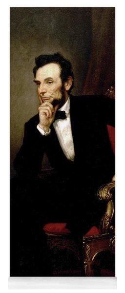 Portrait Of Abraham Lincoln, 1869  Yoga Mat