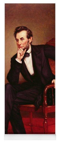 Portrait Of Abraham Lincoln Yoga Mat