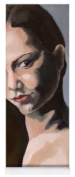 Portrait Of Amanda Yoga Mat