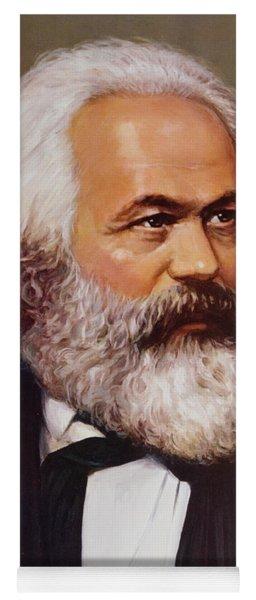 Portrait Of Karl Marx Yoga Mat