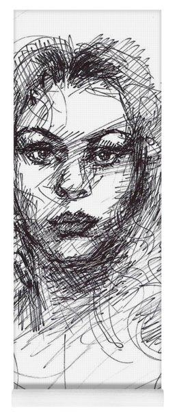 Portrait Sketch  Yoga Mat
