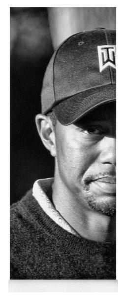 Portrait  Tiger Woods Black White  Yoga Mat