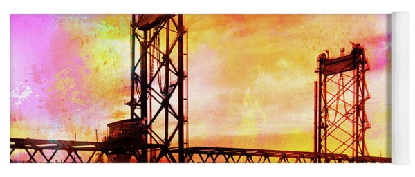 Portsmouth Memorial Bridge Abstract At Sunset Yoga Mat