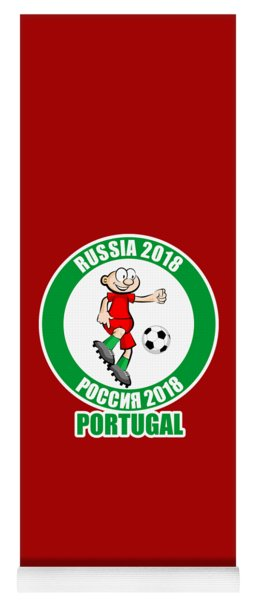 Portugal In The Soccer World Cup Russia 2018 Yoga Mat