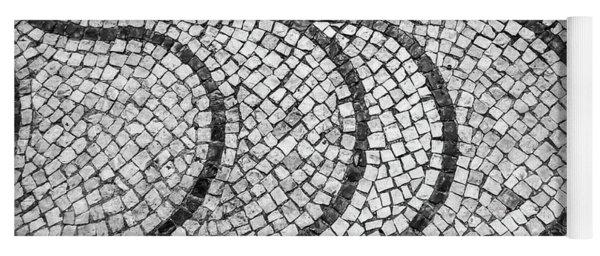 Portuguese Pavement Patterns In Cascais Yoga Mat