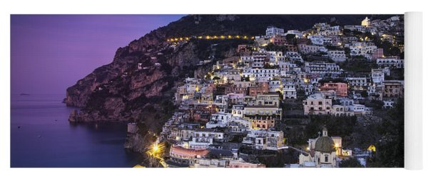 Yoga Mat featuring the photograph Positano Twilight by Brian Jannsen