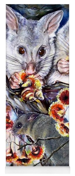 Possum Family Yoga Mat