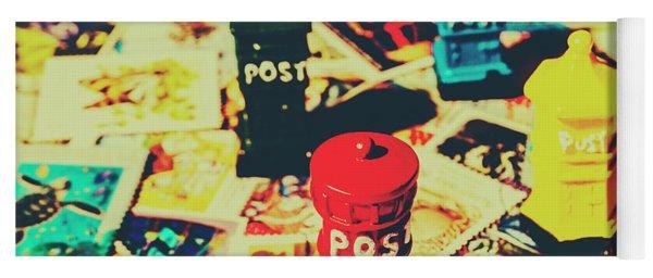 Postage Pop Art Yoga Mat