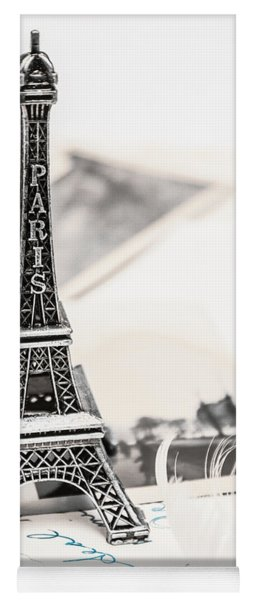 Postcards And Letters From Paris Yoga Mat