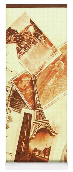 Postcards And Letters From The City Of Love Yoga Mat