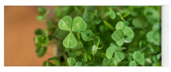 Pot Of Luck Shamrocks St Patricks Day Yoga Mat