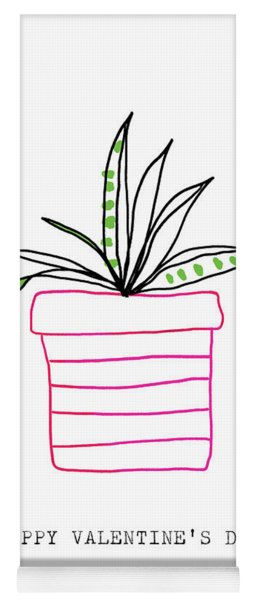 Potted Plant Valentine- Art By Linda Woods Yoga Mat