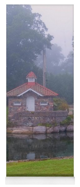 Pump House In Fog Yoga Mat