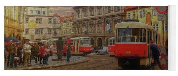 Prague, Old Town, Street Scene Yoga Mat