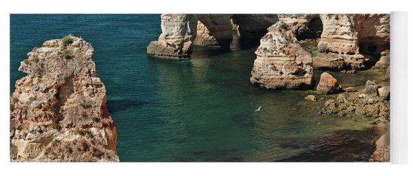 Praia Da Marinha Cliffs And Sea Yoga Mat