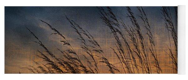 Prairie Grass Sunset Patterns Yoga Mat