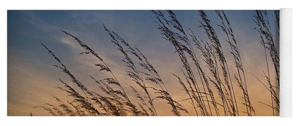 Prairie Grass Sunset Yoga Mat