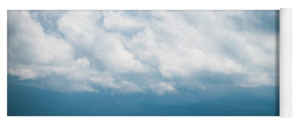 Prairie Storm Over The Canola Yoga Mat
