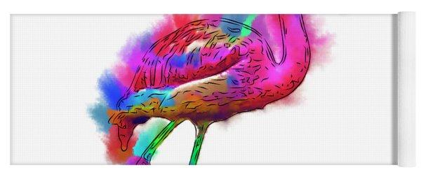 Prancing Flamingo Yoga Mat