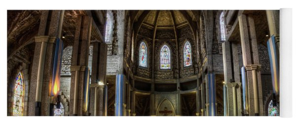 Our Lady Of Nahuel Huapi Cathedral In The Argentine Patagonia Yoga Mat