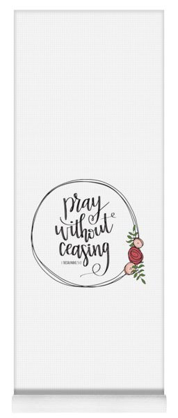 Pray Without Ceasing Wreath Yoga Mat