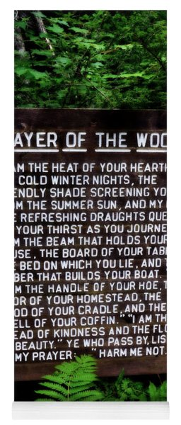 Prayer Of The Woods Yoga Mat