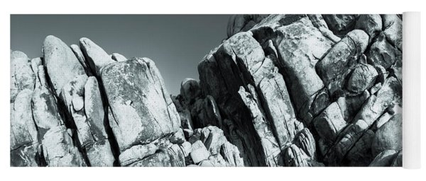 Precious Moment - Juxtaposed Rocks Joshua Tree National Park Yoga Mat