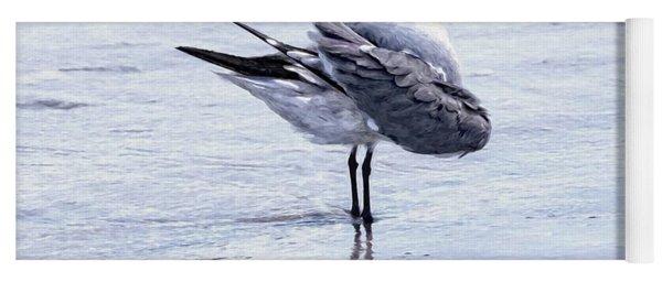 Preening Gull Yoga Mat