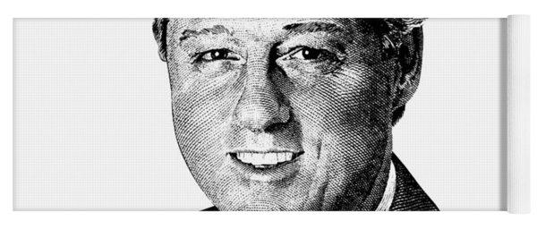 President Bill Clinton Graphic - Black And White Yoga Mat