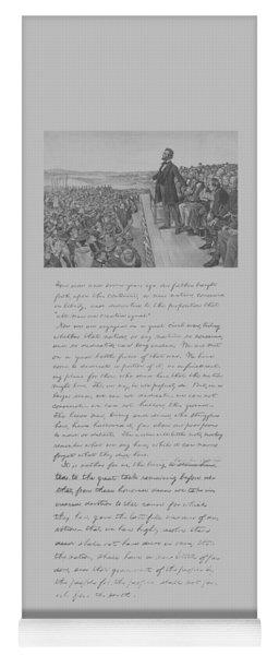 President Lincoln And The Gettysburg Address Yoga Mat