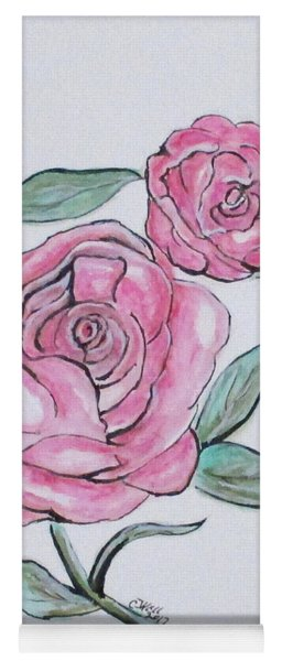 Pretty And Pink Roses Yoga Mat