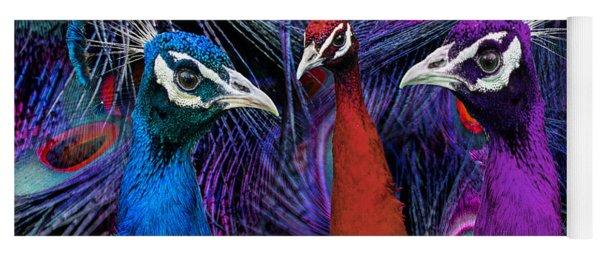 Pretty As A Peacock Yoga Mat