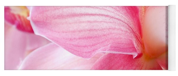 Pretty In Pink Orchid Petals Yoga Mat