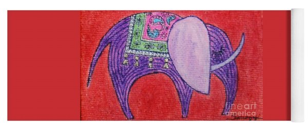 Pretty Pachyderm -- Whimsical Elephant Yoga Mat